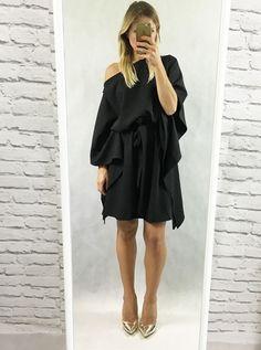 Zdjęcie Sukienka związywana CITY czarna