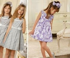Vestidos gris y lila Little Girl Dresses, Girls Dresses, Summer Dresses, Kids Fashion, Fashion Outfits, Sewing For Kids, My Girl, To My Daughter, Kids Outfits