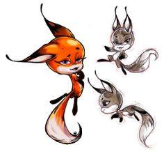 BEAUTIFUL drawing of the fox kwami!