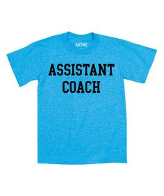 Turquoise 'Assistant Coach' Tee - Toddler & Boys #zulily #zulilyfinds