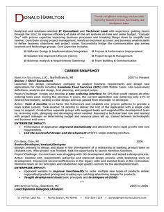 a professional resume template for a general manager and