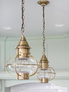Cottage Kitchen Makeover Nautical decor feels like summer, and these lantern pendants would sure light up a room!Nautical decor feels like summer, and these lantern pendants would sure light up a room! Beach Cottage Style, Coastal Cottage, Coastal Homes, Beach House Decor, Coastal Style, Coastal Decor, Home Decor, Cottage Art, Coastal Curtains