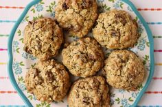 Soft Oatmeal Raisin Cookies No Butter - Jenny Can Cook Dairy Free Oatmeal Raisin Cookies, Oatmeal Chocolate Chip Cookies, Easy Cooking, Cooking Recipes, Bread Recipes, Coconut Oil Cookies, Avocado, Healthy Cookies, Healthy Snacks