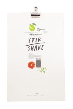Stir Shake Calendar <3  Each month has its own illustrated recipe!