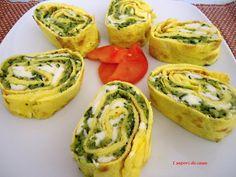 Rotolo di frittata ripieno di zucchine e mozzarella with step by step photos