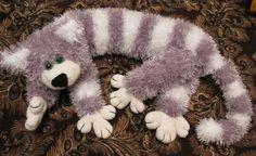 Вязаный кот спицами из пряжи травка | Марья Искусница