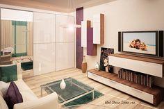 Garsoniera Timpuri Noi - Art Deco Zone & Knox Design - Amenajari interioare Bucuresti Oversized Mirror, Art Deco, Modern, House, Furniture, Design, Home Decor, Ideas, Trendy Tree