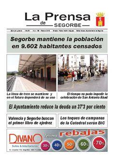 LA PRENSA DE SEGORBE nº 159 Febrero 2013  Periódico mensual del Excmo. Ayuntamiento de Segorbe