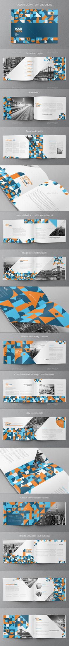 Colorful Pattern Brochure Template InDesign INDD - 28 Custom Pages