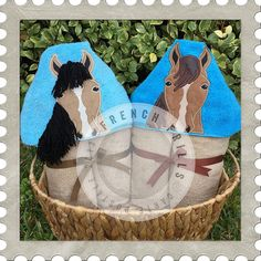 Horse hooded towel designs. #Embroidery #Applique