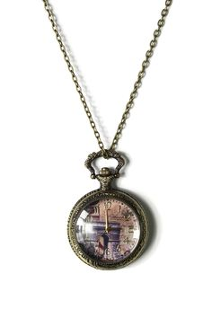 Triumphal Arch Watch Pendant Necklace - Accessory - Retro, Indie and Unique Fashion