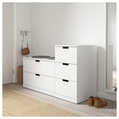 IKEA offers everything from living room furniture to mattresses and bedroom furniture so that you can design your life at home. Check out our furniture and home furnishings! Ikea Drawers, Painted Drawers, Small Drawers, 4 Drawer Dresser, 5 Drawer Chest, Chest Of Drawers, Nordli Ikea, Ikea Bedroom Furniture, Ikea Family