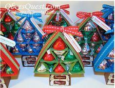 scored Hersey Christmas Trees