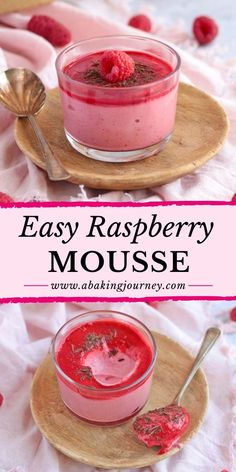 Fresh Raspberry Recipes, Raspberry Desserts, Raspberry Mousse, Dinner Party Desserts, Summer Desserts, Easy Desserts, Summer Food, Dinner Parties, Summer Recipes
