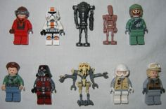 LEGO Star Wars Minifigures Lot Of 10 Luke Skywalker Grievous Princess Leia Droid