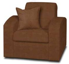 Mission Chocolate Faux Leather Brook Chair