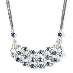 Simply Vera Vera Wang Two Tone Bead Bib Necklace