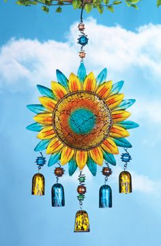 Mosaic Sparkling Sunflower Dangler
