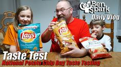 National Potato Chip Day #DoUsAFlavor Taste Test  Today is National Potato Chip day and we celebrated by taste testing some new Lays flavors that are part of their #DoUsAFlavor promotion. Each year you can submit different flavors and the winning one gets a big time prize. Usually 4 flavors are created so that they can be tested and voted upon. I think these three were just made by Lays to promote the contest.