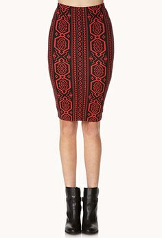 Tribal Print Pencil Skirt | FOREVER21 - 2000109717