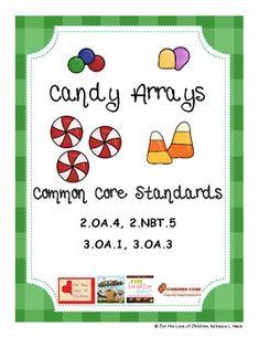Candy Math Arrays for the Common Core - For the Love of Children - TeachersPayTeachers.com