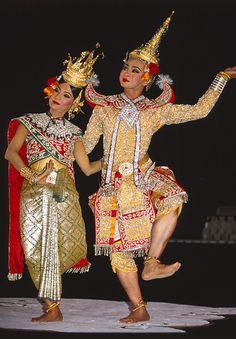 Bangkok, Thailand - Watching traditional Thai dancing on Christmas Eve