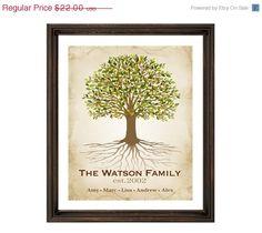 "SALE DIY Personalized Family Tree 8x10 or 11x14"" - Printable PDF - Genealogy Tree. $19.80, via Etsy."