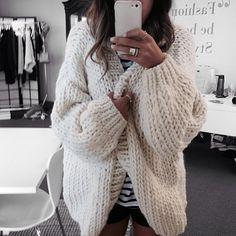 the cardigan . big knits .