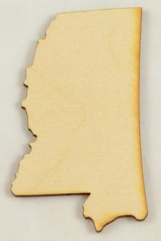 The Mississippi state cutout is made here in our shop. We cut all of our wood cutouts and shapes when you order them, so they are always in stock! Need a different size? Not a problem, just contact