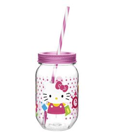 Another great find on #zulily! Hello Kitty 19-Oz. Canning Jar Tumbler by Hello Kitty #zulilyfinds