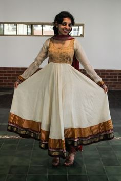 Full flair anarkali - Elegant combination of gold and off white Anarkali, Off White, Victorian, Couture, Studio, Elegant, Formal, Health, Gold