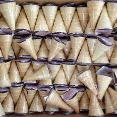 Winter ice cream a la backgamon
