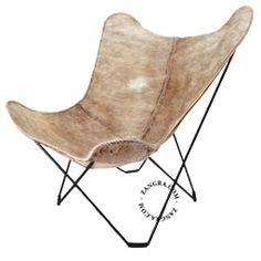 chaise papillon - peau de vache