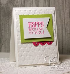 Card by Jen Shults using Birthday to You from Verve.  #vervestamps