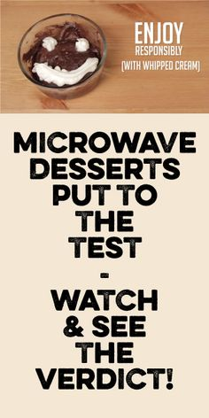 Microwave Desserts Put TO The Test! Watch & See The Verdict!