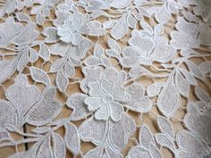 White magic color metallic 3D flowers embroidered lace fabric for wedding dress show dress 47'' sales by the yard