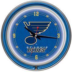 Trademark Commerce NHL1400-SLB NHL St. Louis Blues Neon Clock - 14 inch Diameter