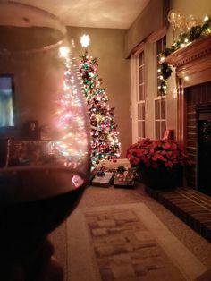 Christmas and wine. Thats wonderful Christmas Tree, Wine, Holiday Decor, Home Decor, Teal Christmas Tree, Decoration Home, Room Decor, Xmas Trees, Christmas Trees