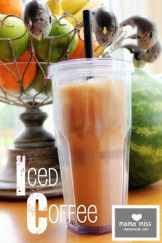 Simple Iced Coffee {mama miss}