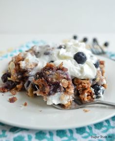Slow Cooker Cobbler Recipe with Blueberries and Coconut