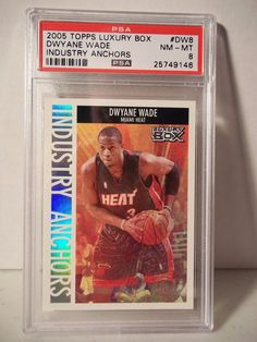 2005 Topps Luxury Box Dwayne Wade PSA NM-MT 8 Basketball #DW8 Industry Anchors…
