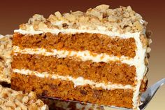 "Carrot cake with cheese ""icing""."