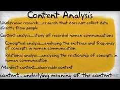 Content Analysis - YouTube