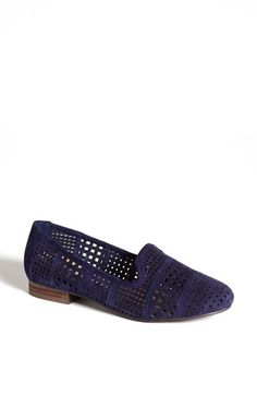 perforated blue suede shoes