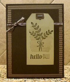Hello Fall! Preview of For All Things by ange2k25 - Cards and Paper Crafts at Splitcoaststampers