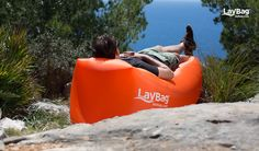 Get your own Laybag™ now and inflate it within seconds! Carry it around in its small bag and inflate it within 5 seconds to a huge air-sofa! Things To Buy, Fun Things, Things I Want, Camping Meals, Camping Hacks, Campfires, Sofa Sale, Year 2016