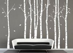 9 birch trees decal wall decals Tree wall decal nature wall decals white birch wall stickers birch trees baby nursery room vinyl wall decor by iNatureHomeArts on Etsy Tree Decal Nursery, Birch Tree Wall Decal, Tree Decals, Nursery Wall Stickers, Nursery Room, Vinyl Wall Decals, Wall Stickers Tree, Nursery Trees, Baby Room