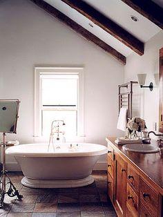 Rustic, simple, clean, inviting, quiet.