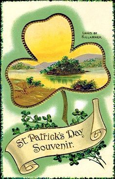 Simple and easy St. Patrick's Day decorations and ideas courtesy of these free vintage St. Saint Patricks Day Art, St Patricks Day Cards, Vintage Cards, Vintage Postcards, Vintage Images, Clipart Vintage, Irish Greetings, St Patricks Day Pictures, St Patrick's Day