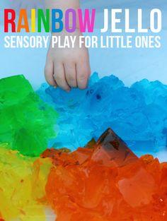 Rainbow Jello Sensory Play from Meri Cherry Blog